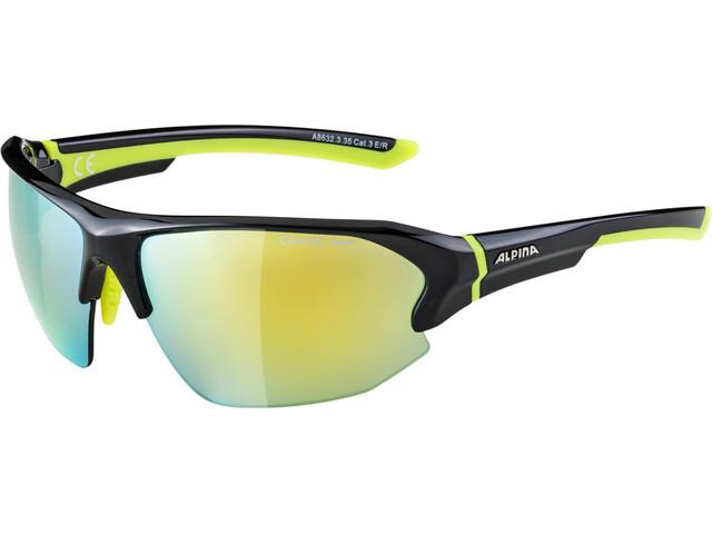 Alpina Lyron HR Glasses black-neon yellow